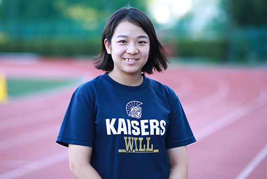関西大学体育会アメリカンフットボール部KAISERS 3年生 S&Cトレーナー 今村有沙